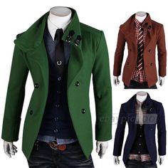 Details zu Herren Jacke Mantel Herrenmantel Winterjacke Coat Wollmantel  Zweireihig XS S M L 53166b60a2