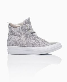 Converse - Winter Knitted Hidden Wedge Trainers - Stone - Shoes & Trainers - Womens