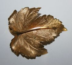 Signed Wells 14k Gold Fill Canadian Maple Leaf Pin Brooch Nature Jewelry | eBay