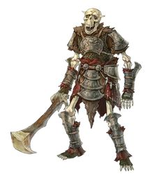 Orc or Bugbear Skeleton - Pathfinder PFRPG DND D&D 3.5 5E 5th ed d20 fantasy