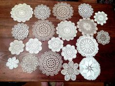 Destash Lace Doilies  21 Round Pieces  From 4 by SandysSupplyAttic, $18.00