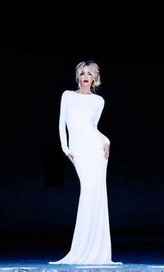 Sexy long sleeve backless wedding dress, Lurelly Monaco Dress, find it on PreOwnedWeddingDresses.com