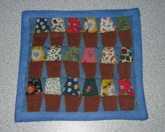Bloempottenquilt - Patchwork quilt to make