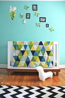 Like the quilt, love the wall color, WANT THE DASCHUND!