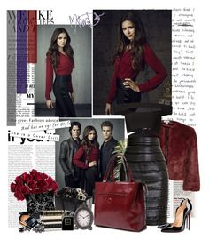 """""""Nina Dobrev - TVD Promo season 4"""" by iced ❤ liked on Polyvore featuring Monsoon, Balmain, Chanel, Christian Louboutin, Home Decorators Collection, F and Guerlain"""