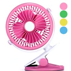 Air Cooling Fan Mini Portable Round Fan USB Handheld Electric Fan Outdoor Cooling Fans Pink
