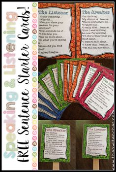 Speaking and Listening are important common core reading skills that MUST be implemented in your reading lessons.  The best way to do that is by using these FREE sentence stem task cards!