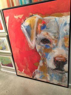 Best Ideas For Animal Art Canvas Pet Portraits Painting Inspiration, Art Inspo, Wall Art Crafts, Abstract Animals, Art Mural, Dog Portraits, Animal Paintings, Dog Art, Art Techniques