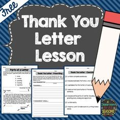 This FREE friendly letter writing activity can be used in November or any other time of the year. Includes a graphic organizer, an example and a writing checklist for a thank you letter.