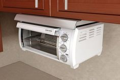 Home Design Gallery: Adding Under Cabinet Toaster Ovens In Your Kitchen Space Saving Solutions Kitchen Oven, Small Kitchen Appliances, Kitchen Countertops, Kitchen Stuff, Under Counter Toaster Oven, Pop Up Toaster, Toaster Ovens, Oven Design