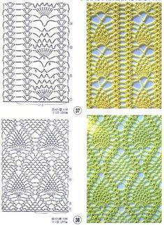 Butterfly Migration pattern by DROPS design Crochet Woman, Diy Crochet, Crochet Shawl, Crochet Top, Stitch Patterns, Crochet Patterns, Crochet Stitches Chart, Pineapple Crochet, Crochet Tablecloth