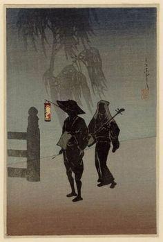 Street Singers (Ukiyobushi) / Takahashi Shotei  うきよぶし 高橋松亭(弘明) 20世紀初頭