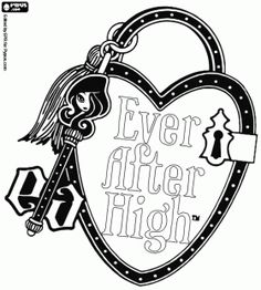 Ever After High Characters Coloring Pages
