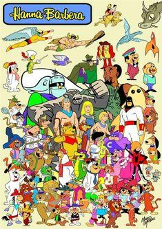Hace muuuuchisimo tiempo, en una galaxia muy lejana existían los héroes de Hanna Barbera...cuantos reconoces?