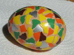 eieren door beplakken versieren
