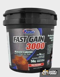 O Fast Gain 3000 da ANSI é suplemento alimentar hipercalórico indicado para o ganho de peso e construção muscular de maneira pesada e intensa, contendo em sua formulação grandes doses de carboidratos, proteína ultra premium e proteína isolada, e para o suporte final ao crescimento traz também quantidades de glutamina, BCAA's e MCT's. Glutamina tem como principal função o fortalecimento do sistema imunológico e BCAA's auxilia na construção e recuperação muscular.