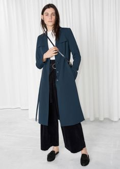 & Other Stories image 2 of Trench Coat  in Navy