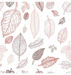 Leaves seamless background vector - by katyau on VectorStock®