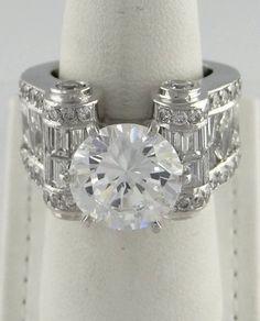 This vintage designed Armadani Platinum and Diamond Wide Wedding