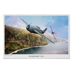 """Aviation Art Poster """"F4F vs Zero """""""