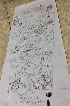 Spiral Tattoos, Leg Tattoos, Body Art Tattoos, Sleeve Tattoos, Japanese Wave Tattoos, Japanese Waves, Floral Tattoo Design, Tattoo Designs, Rauch Tattoo