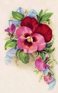pink pansy from Heirlooms For You