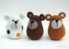 Amigurumi Little Bears-Free Pattern Click the link for a free pattern. FREE PATTERN!...