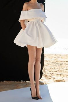 White Off the Shoulder Mini Homecoming Dresses,A-line Prom Dresses · HotProm · Online Store Powered by Storenvy