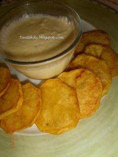 Tante Kiki: Τηγανιτές πατάτες με σάλτσα φέτας...