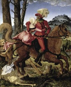 picasso The Knight the Young Girl and Death Early C Hans Baldung Grien ) Musee du Louvre Paris Canvas Art - Hans Baldung Grien x Hans Holbein, Picasso Paintings, Wassily Kandinsky Paintings, Lake Painting, Painting Prints, Memento Mori, Hyogo, Hans Baldung Grien, Monet