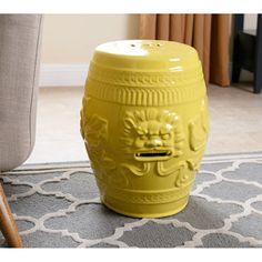 Shop for ABBYSON LIVING Chinese Lion Yellow Green Ceramic Garden Stool and more for everyday discount prices at Overstock.com - Your Online Garden