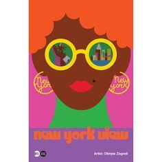 New York View - MTA Arts & Design Poster | Olimpia Zagnoli