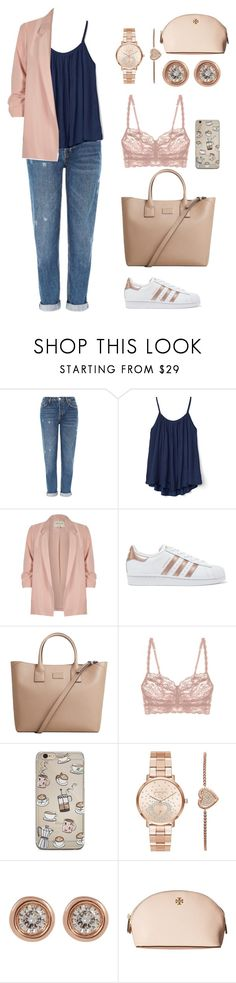 """Rise"" by itsmeambra ❤ liked on Polyvore featuring Topshop, Gap, River Island, adidas Originals, MANGO, Michael Kors, Ron Hami and Tory Burch"