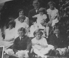 Joseph and Rose Kennedy with the first seven of their children, Joe Jr., John, Rosemary, Kathleen, Eunice, Patricia and Robert