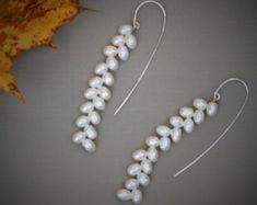 Pendientes de perla y plata por AntoGioielli en Etsy