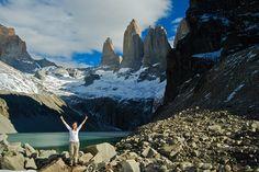 Las Torres del Paine base view, via Flickr.