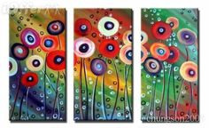 GUDI-Hand-painted Modern Wall Decor Art Abstract Oil Painting On Canvas Unframed Oil Painting Flowers, Oil Painting Abstract, Poppy Craft, Remembrance Day, Autumn Art, Halloween Art, Teaching Art, Love Art, Art Lessons