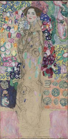 Gustav Klimt (Austrian, 1862-1918), Posthumous Portrait of Ria Munk III, 1917-18. Oil on canvas