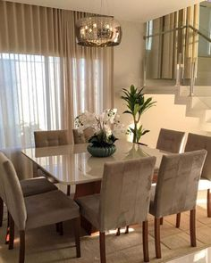 outstanding dining room table decor ideas 16 < Home Design Ideas Dining Room Table Decor, Dining Room Lighting, Dining Room Design, Dining Chairs, Yellow Dining Room, Wooden Dining Tables, Dining Area, Home Living Room, Living Room Decor