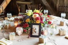 Beautiful Autumn Barn Wedding by Lauren Fair Photography | see it all on www.onefabday.com