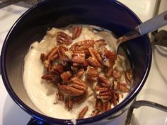 Maple Pecan Eggnog Oatmeal