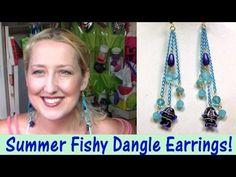 Let's Make Swooshy Fish Dangle Earrings!