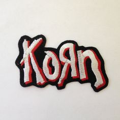 Korn Patch Metal Band Embroidered Iron On Logo by Rocknsportstore, $8.99