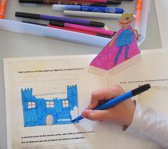 fabrication de livres pop-up à partir d'une histoire sur le développement durable