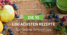 Grüne Smoothies für Anfänger aus max. 5 Zutaten. Zubereitung in 5 Minuten. Gesund und lecker. Jetzt Rezepte-PDF drucken und sofort ausprobieren.