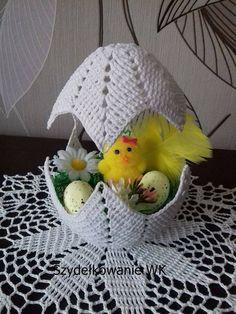 "Photo from album ""Валя-Валентина on Crochet Cord, Crochet Fall, Easy Crochet, Easter Toys, Easter Egg Crafts, Crochet Gifts, Crochet Doilies, Crochet Tablecloth, Crochet Chicken"