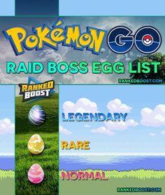 Pokemon GO Raid Boss Egg List | Normal, Rare & Legendary Raid Egg. Best Pokemon For Attacking Normal and Rare Egg Raid Bosses