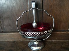 Vintage English sugar cube red glass cafe style serving bowl circa 1950's Purchase in store here http://www.europeanvintageemporium.com/product/vintage-english-sugar-cube-red-glass-cafe-style-serving-bowl-circa-1950s/