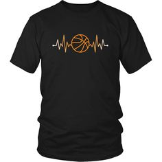 Show how proud Basketball fan you are wearing Basketball Rhythm Basketball Pulse Tee or Hoodie. Custom men & women Basketball shirts by TeeLime. Cool designs.