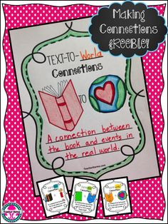 FREEBIE: Making connections with text! Improve your students reading comprehension with this free product. teacherkarma.com #metacognition #comprehension